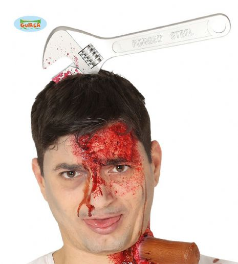 Adult Wrench Through Head for Zombie Costume Halloween Accessory